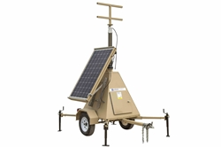 600 Watt Solar Power Generator with Light Tower Mast - T-Head Mounting Bracket Included