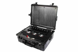 6 Bay Self-Contained Lithium-ion Battery Charger - Automatic Discharge/Recharge Functionality