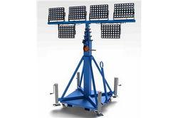 2400W Yüksek Yoğunluklu LED Işık Santrali - Manuel Krank Vinç - Kaydırmalı 50 Direk - Çekilebilir