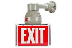 10W Explosion Proof LED Exit Sign - Class I, Div. I & II - 32V DC - 871 Lumens - IP67 Waterproof