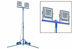 Torre de iluminação LED à prova de explosão 300 Watt - Montagem quadpod - C1D1 - Cabo 100 - Pino 16A / Bujão de manga