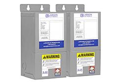 3 faasipadja ja võimendustrafo - 208V esmane - 222V sekundaarne - 12.5 sekundaarvarustus - 50 / 60Hz