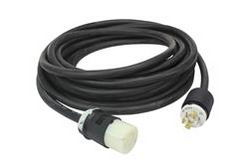 1' 12/3 SOOW Straight Blade Extension Crossover Power Cord - 6-20C to 5-15P - 250V to 120V Cord - 15