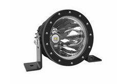 25W High Intensity LED Spotlight - 12-32V DC - 1000' Spot Beam - IP68 Submersible - Round Housing