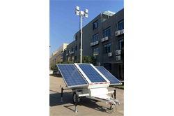 * RENT * Solar LED Light Tower - laiendab 20 '- (3) 300W paneele, (4) 100W LED-lambid - (6) 150aH Batt.