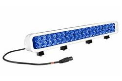 120 Watt LED Light Bar - Blue Light White Housing - 1250'L X 200'W Spot - 9-42VDC - 40 LEDs
