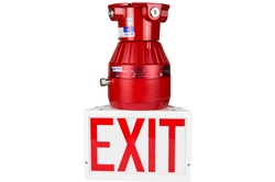 10W Red Explosion Proof LED Exit Sign - 1050 Lumens - Class I Div 1 & 2 - 120-277V AC