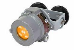 Luz estroboscópica de advertencia LED ámbar 25W a prueba de explosiones - C1D1 - Montaje magnético - Aluminio - 9-60V DC