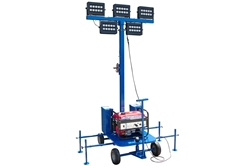 450W Non-Towable Mini LED Light Tower w/ Gas Generator - (5) 90W LED Lamps - 67,500 lms