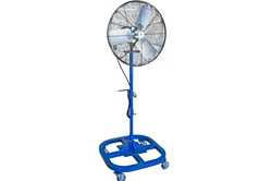 "24"" Explosion Proof Fan on Stand - Swivel Casters - 7980 CFM - 24IN - Pedestal - 15' Cord - 20A Plug"