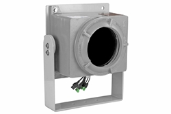 Explosion Proof Fisheye Camera Enclosure - Adjustable Trunnion Mount - Black Finish - C1D1&2 - C3