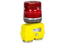 Heavy Duty Portable Warning Light - Red Battery Powered Strobe - Magnetic Mount