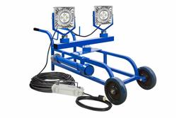100W EXP LED Light - 12,500 Lm - Cart Mount - Quick Change Mount - C1D1 - 100' 12/3 SOOW - Inline