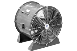 "24"" Explosion Proof High Velocity Fan - Pedestal Base Stand - 1725 CFM - 1 HP - 480V 3 Phase"