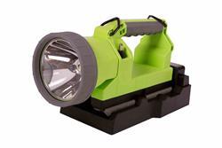 Linterna LED recargable - 600 lms - Batería de iones de litio - 6.25H Runtime - Cargador 120V AC - Verde