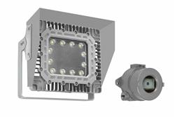 100W Explosion Proof LED Wall Pack Light w/ Glare Shield - Surface Mount- 11,667L - C1D1 - Photocell