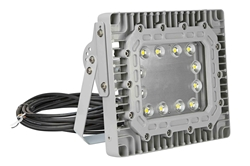 100W Explosion Proof High Bay LED Light Fixture - Paint Spray Booth Approved - 40 ft Cord Blunt Ends
