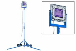 150W Torre de iluminação LED UV à prova de explosão - Montagem quadpod - C1D1 - 365NM - Cabo 100 'com plugue EXP