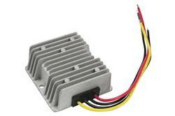 Encapsulated Transformador Step Up DC para DC - 12V DC para 24V DC - 20 Amps - Leads Voador - Impermeável