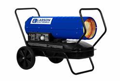 Calentador de aire forzado montado en el carro - 120V - Queroseno / Diesel - 540 CFM, 140000 BTUs - Tanque de gasolina 10 - Azul