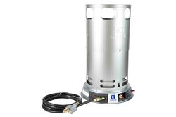 Calentador de convección de propano ajustable - 200,000 BTU - Radio 360 ° - No necesita electricidad - Acero