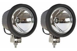 "(2) HID Spotlights - EACH: 5.5"" OD Round - Stud Mount - 2300' Beam - Nylon Housing - 3200 Lumens"