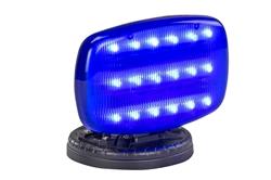 Vilkuv LED strobe valgus reguleeritava lukustusega magnetpõhjaga - BLUE LENS - SL-ALM-B