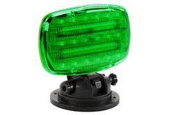 Vilkuv LED strobe valgus reguleeritava lukustusseadmega - GREEN LENS - SL-ALM-G