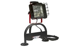 Luz de inundación 120 Volt - Imán - 500 Watt Luz de cuarzo - Base de aluminio - Montaje magnético - 120 Voltios AC