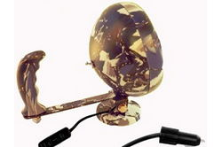 "100W Sealed Beam HIR Camo Spotlight w / Hand - 3.25 ""Magnetic Base - 12 Mil Candlepower - 750 'Beam"