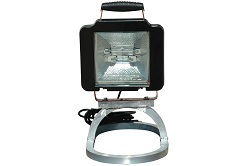 12 / 24 Volt Flood Light - Low Voltage Quartz Flood Light - Pedestal Mount Style with Handle