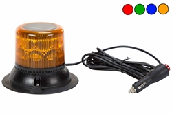 Single LED Strobing Beacon - Magnetic Mount w/ Cigarette Plug - (Avail in Blue, Red or Amber)