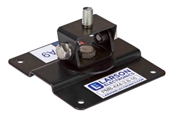 Permanent Mounting Plate with Swiveling & Tilting Bracket - Stud Mount