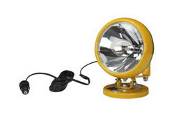 "100W Sealed Beam HIR John Deere/GB Packers Spotlight w/ Handle - 3.25"" Magnetic Base - 750' Beam"