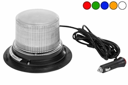 Class 1 LED Beacon with 30 Strobe Light Patterns - Magnet Mount - Cigarette Plug Cord