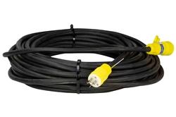 100 '12 / 3 SOOW Cable de alimentación de extensión resistente a la intemperie - 20A Uso continuo - 5-20P / 5-20C - Clasificación para exteriores