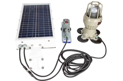 Solar Power LED Explosion Proof Light - Magnetic Surface Mount - Explosion Proof Inline Switch
