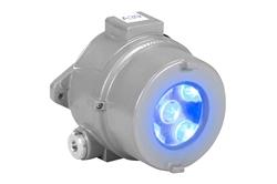 25W Luz de advertencia LED de carretilla elevadora azul a prueba de explosiones - C1D12 C2D12 - 9-60VDC - Montaje en superficie