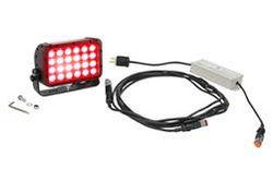 72W punane LED-tuli - 4320-lumeenid - 24-LEDid - 120-277V vahelduvvoolu sisend - trunnion-kinnitus - IP67 hinnatud
