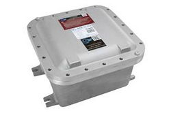 "Explosion Proof Enclosure - 24""x24""x10"" Internal Dims - Surface Mount, Backplate - (4) 3/4"" NPT Hubs"