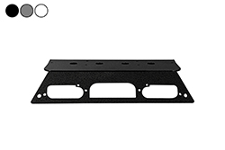 "Antenna Mounting Plate - 2019 Ford Superduty F250 Aluminum Trucks w/ LED 3rd Brake Lights - (4) 3/4"" NMO Mount"