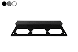 Antenna Mounting Plate - 2019 Ford Superduty F550 Aluminum Trucks - NO Drilling Required