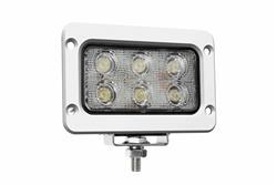 18 Watt Boat LED tulvavalgus - 1400 Lumens - Kuus 3-Watt LED-i - 10-32 Volt DC - IP67 veekindel