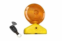 Heavy Duty Portable Warning Light - Amber Battery Powered Strobe - Visual Safety - Wireless Remote