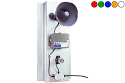 12V LED-liikumishäire süsteem / Horn - I klassi LED-strobe, liikumisandur - 110dBA Horn - tagaplaat