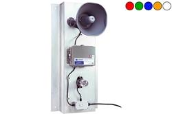 Sistema de alarma de movimiento LED 12V con bocina - Luz estroboscópica LED clase I, sensor de movimiento - Bocina 110dBA - Placa posterior