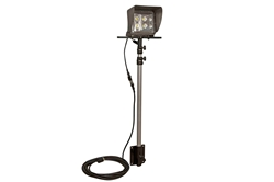 *RENT* 50W LED Light with Telescoping Pole Mount - 3' to 8.5' - 5,000 Lumens - 120-277VAC - 25' Cord