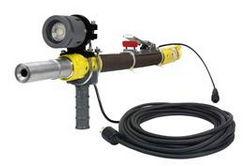 18W área de trabajo LED Luz de pistola de voladura con manija - LED de alto rendimiento - 24V DC - Alivio de tensión de agarre del cable