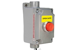 "Explosion Proof 10 Amp ""Open Gate"" Push Button Momentary Switch - Class 1 & 2 - Division 1 & 2"