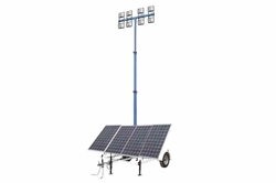 1.8KW Solar Power Generator w / Light Light Tower Mast - (4) LED Lights - 64000 Lumens - 36 Saet